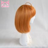 AniHut Takami Chika Wig Love Live Sunshine Lovelive Aqours Cosplay Wig Short Orange Hair