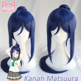AniHut Kanan Matsuura Wig Love Live Sunshine Lovelive Aqours ponytail Straight Cosplay Wig