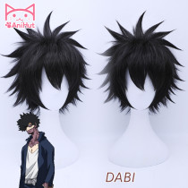 AniHut Dabi Cosplay Wig My Hero Academia Boku No Hero Academia Black Short Cosplay Hair