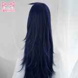 AniHut Midnight Nemuri Kayama Cosplay Wig My Hero Academia Cosplay Wig Synthetic Blue Hair