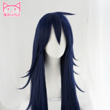 AniHut Midnight Nemuri Kayama Cosplay Wig My Hero Academia Cosplay Wig Synthetic Blue Hair