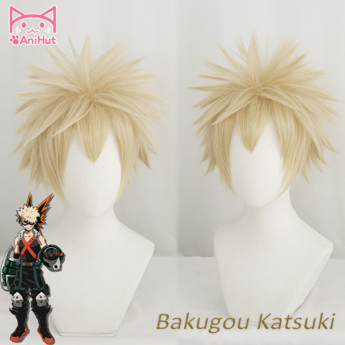 AniHut My Hero Academia Bakugo Katsuki Cosplay Wig Boku No Hero Academia Cosplay Hair