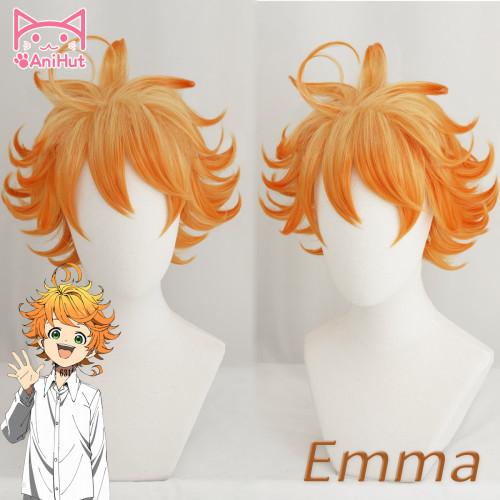 Anihut Emma Cosplay Wig Anime Yakusoku no Neverland Women Orange Cosplay Wig 63194 Emma Cosplay