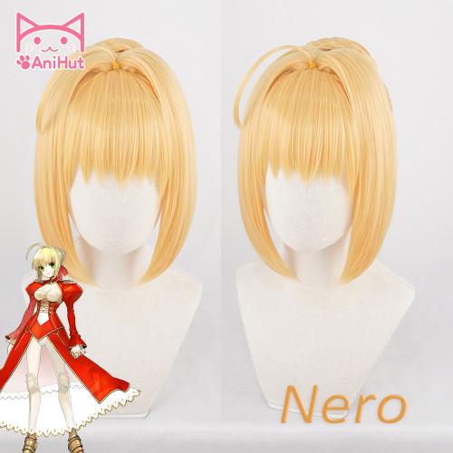 AniHut Nero Claudius Wig Fate Grand Order FGO Cosplay Wig Anime Fate stay night FSN Nero Blonde Cosplay Hair