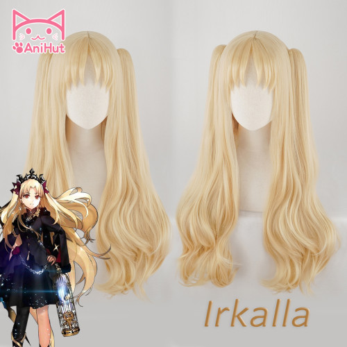 AniHut Irkalla Ereshkigal Wig Fate Grand Order Cosplay Wig Curly Light Blonde Hair Anime Fate Grand Order Cosplay Wigs Women