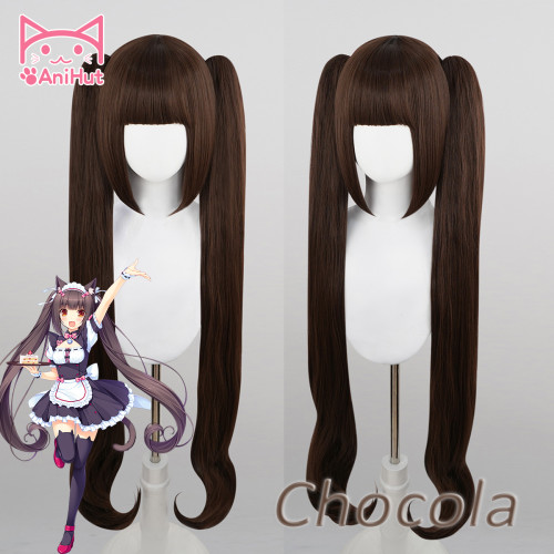 AniHut Chocola Wig Anime NEKOPARA Cosplay Wig Women 100cm Synthetic Hair