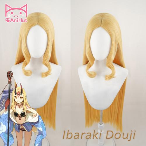 AniHut Ibaraki Doji Cosplay Wig Game Fate Grand Order FGO Wig Synthetic Blonde Women Hair Ibaraki Doji Cosplay