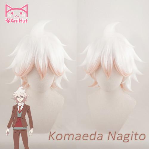 AniHut Komaeda Nagito Wig Danganronpa V3 Cosplay Wig Anime Cosplay Hair Synthetic Heat Resistant Hair Komaeda Nagito Cosplay