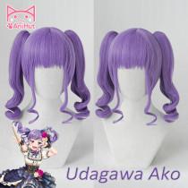 AniHut Udagawa Aka Wig Game BanG Dream! Cosplay Wig Synthetic Purple Women Hair Anime BanG Dream Cosplay Udagawa Aka Costume