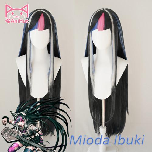 AniHut Mioda Ibuki Wig Danganronpa Cosplay Synthetic Heat Resistant Women Hair Mioda Ibuki