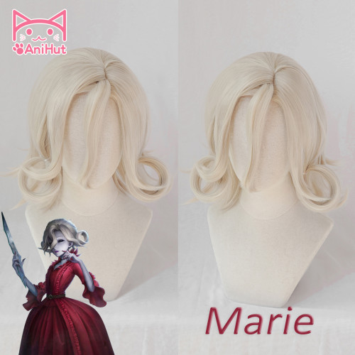 AniHut Blood Queen Mary Marie Wig Game Identity V Madame Deficit Cosplay Wig Synthetic Women Hair Identity V Marie Costume