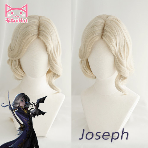 AniHut Photographer Joseph Wig Game Identity V Hunter Cosplay Wig Synthetic Hair Identity V Photographer Joseph Costume
