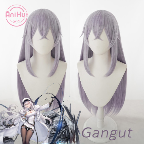 Anihut Gangut Cosplay Wig Game Azur Lane Women Heat Resistant Synthetic Purple Cosplay Wig Gangut Cosplay