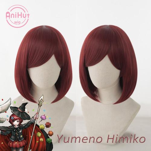Yumeno Himiko Wig Danganronpa Cosplay Synthetic Heat Resistant Women Red Hair Yumeno Himiko