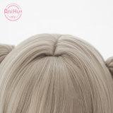 AniHut Barbara Cosplay Wig Genshin Impact Cosplay Light Brown Bunches Heat Resistant Synthetic Hair Barbara Halloween Cosplay