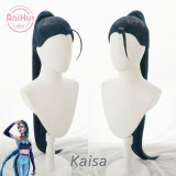 Anihut Kaisa Cosplay Wig Game LOL KDA THE BADDEST ALL OUT League of Legends Blue mixed Green Halloween Kaisa Cosplay Hair