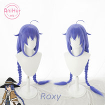 Anihut Roxy Migurdia Greyrat Cosplay Wig Mushoku Tensei Blue Heat Resistant Synthetic Roxy Cosplay Hair Halloween