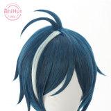 AniHut Kaeya Cosplay Wig Genshin Impact Cosplay Blue Heat Resistant Synthetic Hair Kaeya Halloween Cosplay