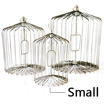Appearing Bird Cage - 12 inch Steel, Small