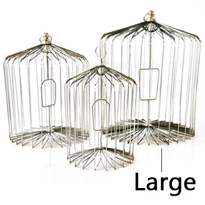 Appearing Bird Cage - 18 inch Steel, Large