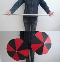 Cane to Two Parasols