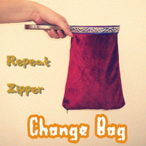 Change Bag - Twice, Zipper (Medium, Red)