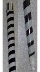 Appearing Cane - Plastic - Black & White