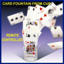 Card Fountain From Glass Cup - Remote Control