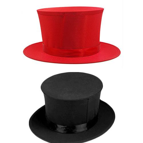Folding Top Hat (Red/Black)