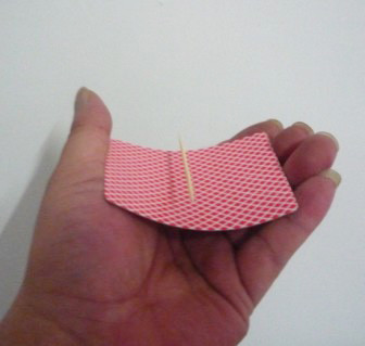 Floating Toothpick on Card