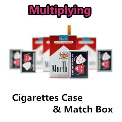 Multiplying Cigarettes Case & Match Box