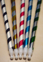 Appearing Cane - Bright Multi Silver Plastic (90cm, 5 Colors)