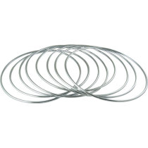 Linking Rings 8 Rings Set - Magnetic Lock (12 Inch, Stainless Steel)