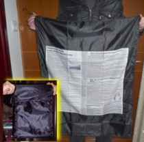 Bag to Newspaper Streamer