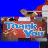 Thank You Streamer for Metal Vanishing Cane