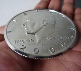 Jumbo Half Dollar - Chrome - 2009 (3 Inch)
