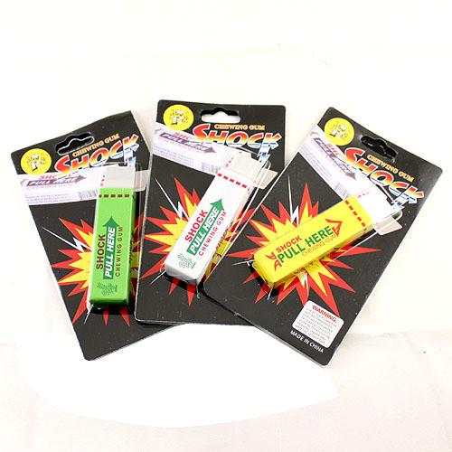 Shock Chewing Gum Pack - 12 Pieces (Dozen)
