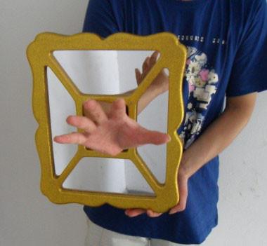 Hand & Dove thru Mirror