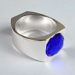 The Lord of the Rings - Magnetic and Reflection PK Ring (Blue Gem, 3 Sizes)
