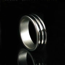 Magnetic Engraved PK Ring (Double Black Ring, 4 Sizes)