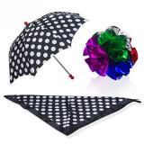 Polka Dot Silk & Umbrella