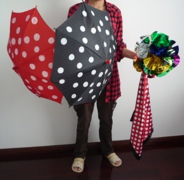 Polka Dot Silk & Umbrella