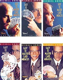 Easy To Master Card Miracles - Michael Ammar - Vol 1-6 DVD Set