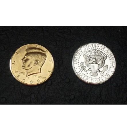 Half Dollar (Half Gold, Half Silver)