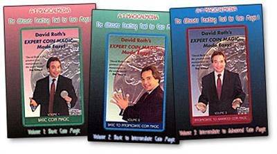 David Roth Expert Coin Magic Made Easy (3 Vol. set) - DVD