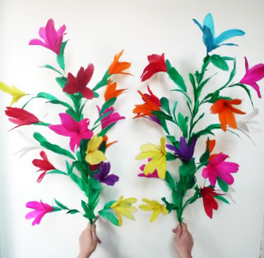 Cane to Two Bunches of Flowers by China Magic