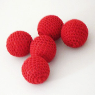 Crochet Ball - Red (4 Sizes)
