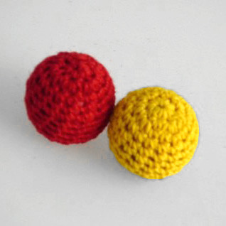 Crochet Ball - Yellow (0.87 Inch)