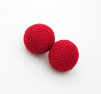 Chop Cup Balls - Set of 2, Red (3 Sizes)