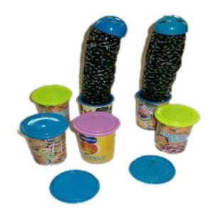 Faux Caterpillar Candy Jar
